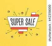 super sale. retro design...   Shutterstock .eps vector #642358000