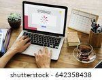 technology concept on a device... | Shutterstock . vector #642358438