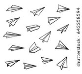 vector paper airplane. travel ... | Shutterstock .eps vector #642358594