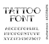 tattoo font. vintage style... | Shutterstock .eps vector #642358696