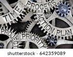 macro photo of tooth wheels... | Shutterstock . vector #642359089
