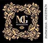 monogram  initials  jewelry.... | Shutterstock .eps vector #642359674