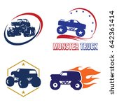 bigfoot monster truck logo... | Shutterstock .eps vector #642361414