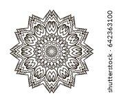 mandala. ethnic decorative...   Shutterstock .eps vector #642363100