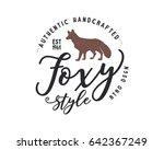 vintage hand drawn wild animal... | Shutterstock .eps vector #642367249