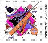 trendy vector summer cards...   Shutterstock .eps vector #642370180