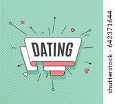 dating. retro design element in ...   Shutterstock .eps vector #642371644