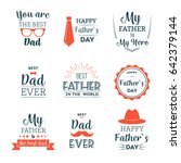 father's day labels | Shutterstock .eps vector #642379144