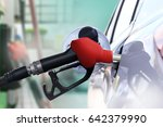 refuel car with petrol ... | Shutterstock . vector #642379990