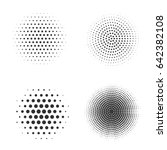 abstract halftone pattern... | Shutterstock .eps vector #642382108