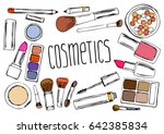 cosmetics set drawing by hand. ... | Shutterstock .eps vector #642385834