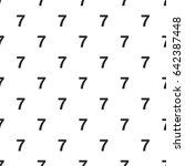 number seven  7 seamless...   Shutterstock .eps vector #642387448
