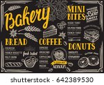 bakery food menu for restaurant ... | Shutterstock .eps vector #642389530