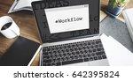 workflow hashtag window graphic ...   Shutterstock . vector #642395824