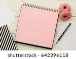 open notebook  sketchbook or... | Shutterstock . vector #642396118