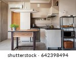 kitchen interior country style | Shutterstock . vector #642398494