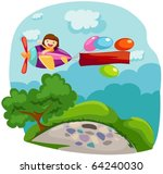 illustration of cartoon... | Shutterstock .eps vector #64240030