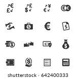 currency exchange vector icons... | Shutterstock .eps vector #642400333