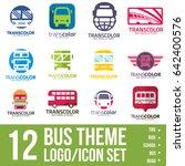 bus logo icon bundle | Shutterstock .eps vector #642400576