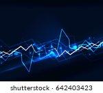 neon blue lightning background... | Shutterstock . vector #642403423