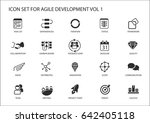 agile software development... | Shutterstock .eps vector #642405118