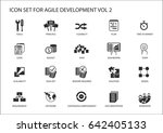 agile software development... | Shutterstock .eps vector #642405133
