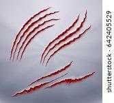 realistic predators wound  scar ... | Shutterstock .eps vector #642405529