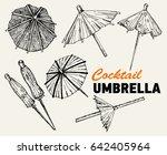 cocktail umbrella. cocktail... | Shutterstock .eps vector #642405964