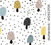 seamless pattern with abstract... | Shutterstock .eps vector #642411934