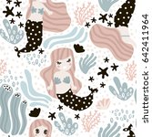 seamless childish pattern with... | Shutterstock .eps vector #642411964