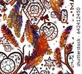 dream catcher for tribal boho... | Shutterstock .eps vector #642412450