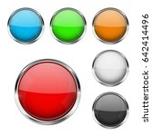 round glass buttons. colored... | Shutterstock .eps vector #642414496