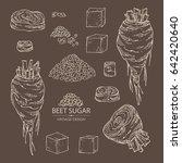 collection of beet sugar  sugar ... | Shutterstock .eps vector #642420640