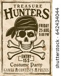 pirates costume party vintage... | Shutterstock .eps vector #642434044