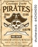 pirates invitation poster to... | Shutterstock .eps vector #642434050