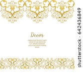 vector gold ornamental ... | Shutterstock .eps vector #642436849