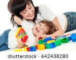 mother and baby playing and... | Shutterstock . vector #642438280