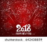lettering happy new year 2018... | Shutterstock .eps vector #642438859