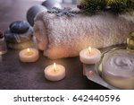 spa treatment with christmas... | Shutterstock . vector #642440596