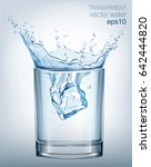 transparent vector water splash ... | Shutterstock .eps vector #642444820