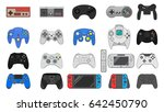 game gadgets collection gamepad ... | Shutterstock .eps vector #642450790