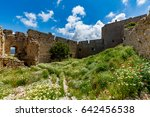 Small photo of Medieval castle of Kritinia (Kastellos), Rhodes island, Greece