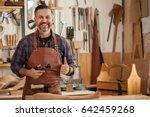 middle ages handsome carpenter...   Shutterstock . vector #642459268