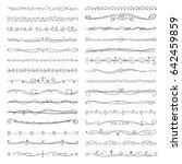 hand drawn borders  dividers ... | Shutterstock . vector #642459859
