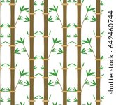 bamboo pattern. vector... | Shutterstock .eps vector #642460744