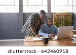two casually dressed young...   Shutterstock . vector #642460918