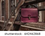 women's leather bag on the... | Shutterstock . vector #642462868