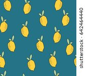 lemon pattern | Shutterstock .eps vector #642464440