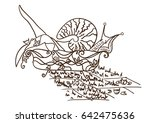 abstract greeting card. the... | Shutterstock .eps vector #642475636