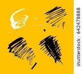 vector brush stroke. grunge ink ... | Shutterstock .eps vector #642478888